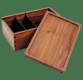 wood stash box with lock