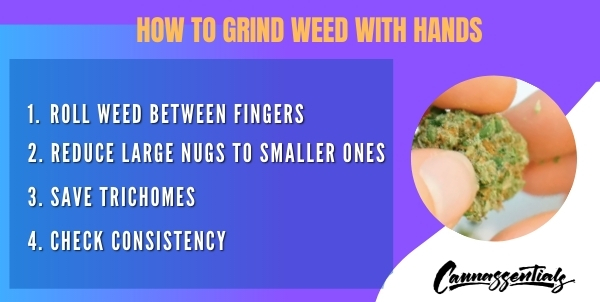 grinding weed by hand