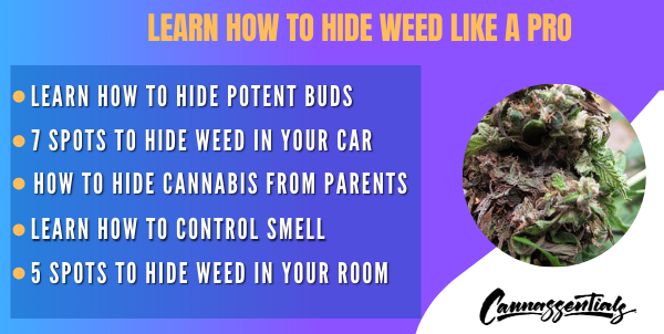 where to hide weed in your room