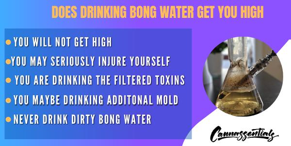 drinking bong water